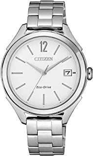 Citizen Women's Solar Powered Wrist watch, stainless steel Bracelet analog Display and Stainless Steel Strap, FE6141-86A