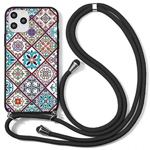 Yoedge Lanyard Case for Xiaomi Redmi 3/ Redmi 3S/ Redmi 3 Pro 5″ Women Floral Crossbody Lanyard Strap Neck Strap Silicone Case Cover for Redmi3 Anti-Scratch Shockproof Mobile Phone Cover, Grid 1