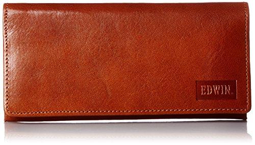 [エドウィン] 財布 イタリアンレザー エンボス 紙幣収納 小銭収納 カードポケット 22219020 27ダークオレンジ