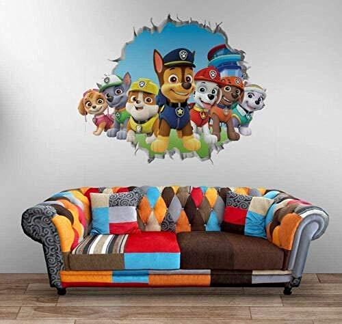 WYLD Muursticker Muur sticker Paw Patrol tekens muur sticker 3D Art sticker Vinyl kamer Home slaapkamer