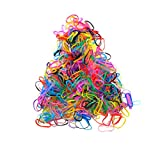 Colorful Rubber Bands for Hair 400 pcs Small Clear Soft Elastic Invisible Bands Hair Ties for Kids Thin Fine Girls Braids Bride Hair