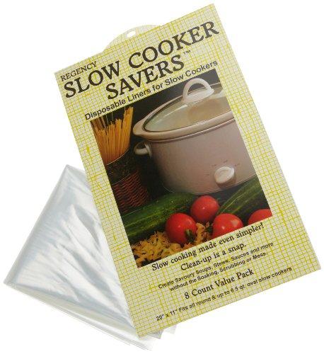 Regency Wraps Slow Cooker Saver Einlagen, für einfache Reinigung, 8er-Set, passt rundum und bis zu 6,5 Liter, oval