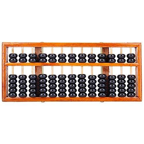 TININNA 13 dígitos Chino Vintage Madera Abacus soroban matemáticas educativas Herramientas de Aprendizaje