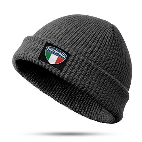 XQHNG Lambretta-Logo-Italian Men Women Fine Knit Fisherman Beanie Popular Acrylic Watch Hat