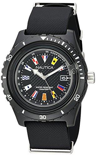 Nautica Reloj Analogico para Hombre de Cuarzo con Correa en Silicona NAPSRF001