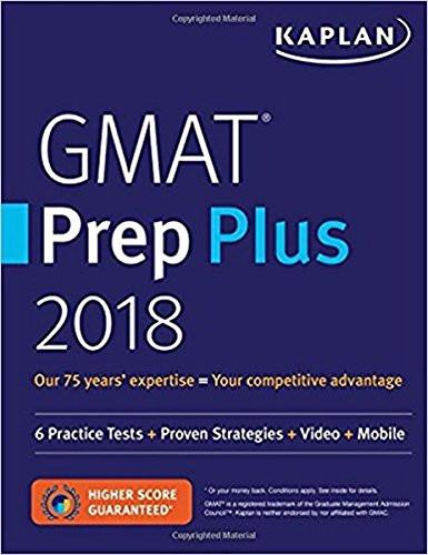 Image OfKaplan GMAT Prep Plus 2018: 6 Practice Tests + Proven Strategies + Video + Mobile