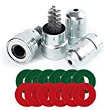 Battery Terminal Cleaners (2 pcs), Plus 12 pcs Battery Terminal Anti-Corrosion Fiber Washers (6 Red & 6 Green) for Car Marine Battery