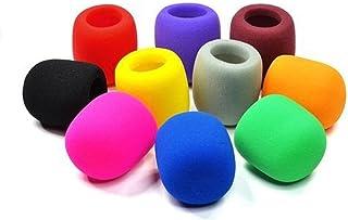 10PC Colors Handheld Stage Microphone Windscreen Foam Mic Cover Karaoke DJ