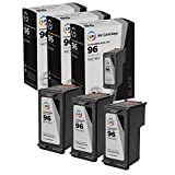 LD Remanufactured Ink Cartridge Replacements for HP 96 C8767WN High Yield (Black, 3-Pack)
