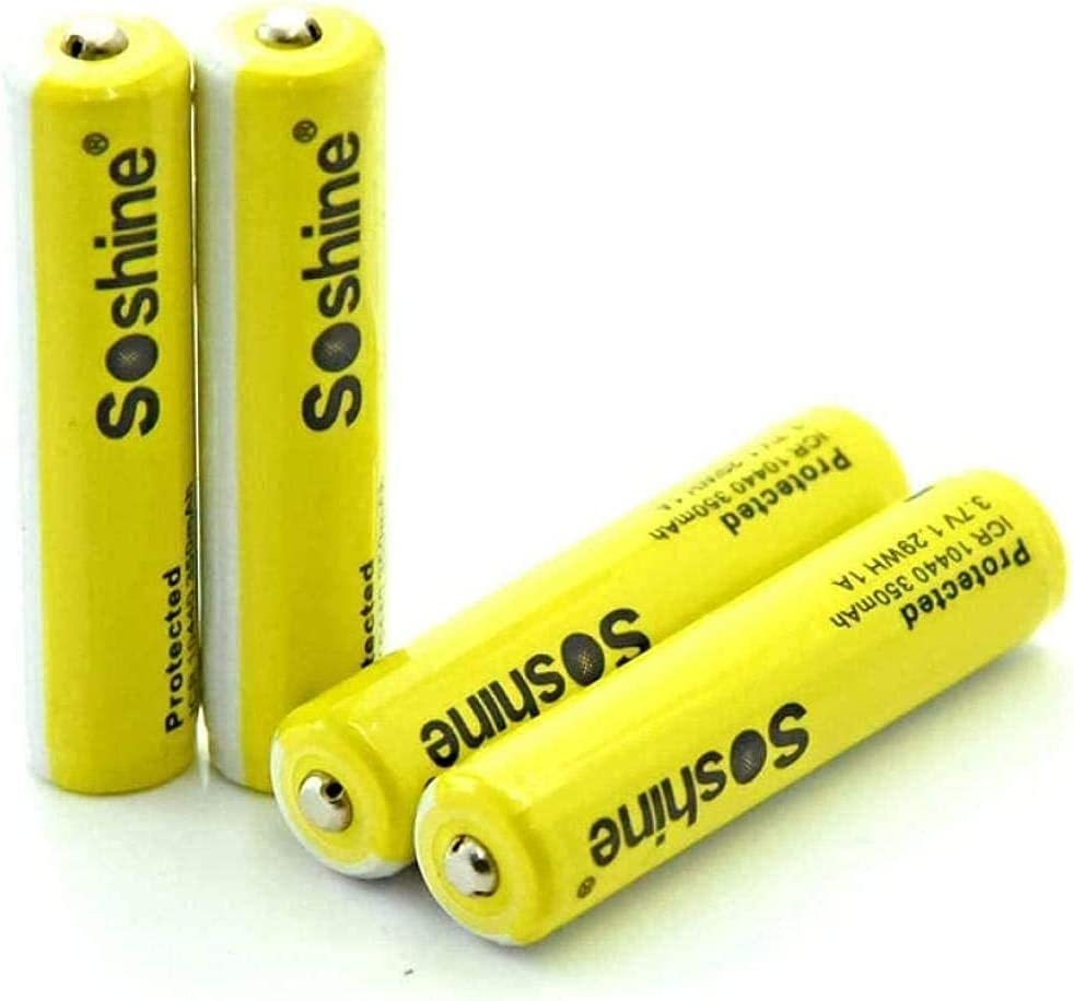 4Pcs 10440 Lithium Battery Ranking TOP19 Miami Mall 350mAh with Rechar Protective