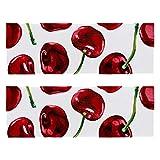 Al aire libre microfibra rojo cereza pintura dulce fruta camping toalla toalla de viaje de secado rápido toalla ligera toalla deportiva para viajes camping yoga gimnasio deportes