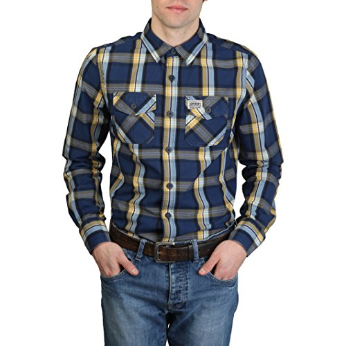 SUPERDRY - Chemises Superdry Bleu Homme - MS4HE355F1_NAVY_YELLOW - L