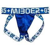 HuntDream Mens Cotton Thong Unterwäsche Sexy Jockstrap Supporter Blau EUR XL/Größe XXL