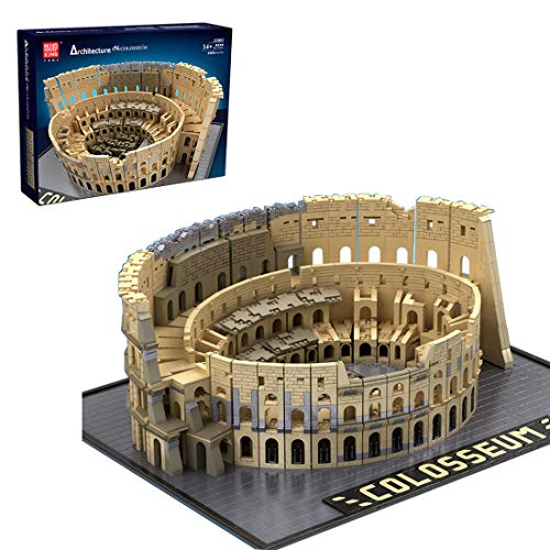 Elroy369Lion The Colosseum Model Bricks Kits ,6466+Pcs Colosseum MOC Building Block Set, Mini Architecture 3D Assembly Bricks Toy for Kids and Adults