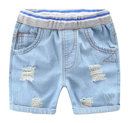 Happy Cherry Baby Kinder Shorts Sommer Gebrochen Jeans Shorts Jungen Mädchen Elastische Taille Cowboy Kurze Hose