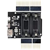 diymore Micro USB UNO R3 5V/GND Power Supply with 16340 Lithium Battery Holder Shield Board Power Bank Module for Arduino Without Battery