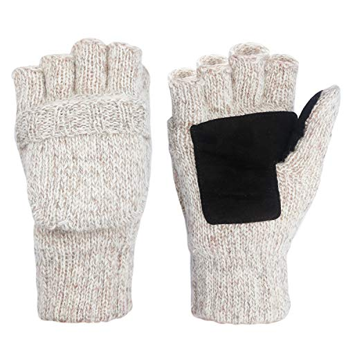 Metog Suede Thinsulate Thermal Insulation Mittens BGray S