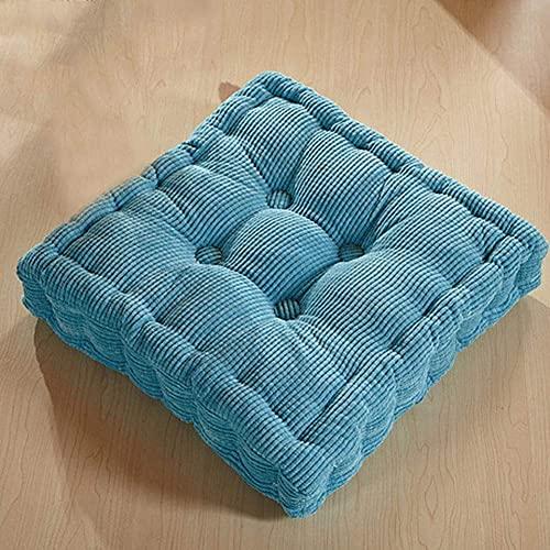Cojín grueso cuadrado de la silla del cojín del asiento acolchado cojín del asiento 100% algodón perla respaldo cojín suave sillón cojines comedor salón