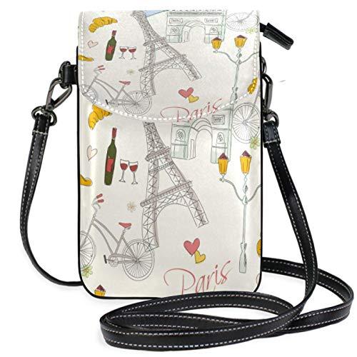 QQIAEJIA Pairs Bike Stree Lamp Crossbody Phone CarteraPequeña Mini Bolsa de hombro Teléfono móvil Bolsa Leather Wallet for Women Girls