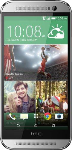 HTC One M8 32GB Smartphone Glacial Silver (Silber) wie NEU OVP (12,7 cm (5.0 Zoll), Super LCD3 Touchscreen, Duo Camera 16gbm Farben) Handy