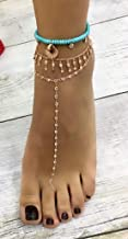 925 Sterling Silver White Zircon Adjustable Waterway Body Chain,Foot Chain Anklet,Barefoot Sandal