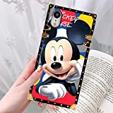 DISNEY COLLECTION Phone Case Fit for iPhone XR (6.1 inch) Smile Mickey Luxury Fashion Cool Cartoon Cute Bumper Shockproof Cover