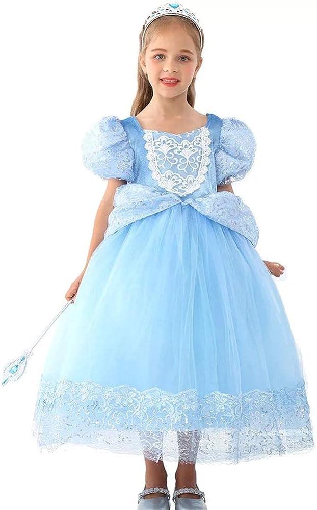Vestidos de Princesa para Niñas Elegantes Fiestas Prom Quinces Bodas de 3 4 5 6 7 8 9 a 10 Años Formales