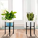 2 Pack Adjustable Metal Stands for Indoor & Outdoor Plants & Flowers Mid Century Modern Planter Stands Adjustable Width 9.5 Inch to 14 Inch Potted Plant Stand Holder Plants Display Rack