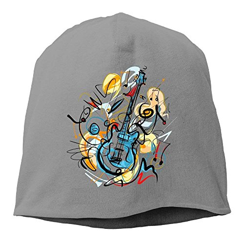 Aeykis Mode einfarbig Gitarre Uhr Cap für Unisex schwarz one Size