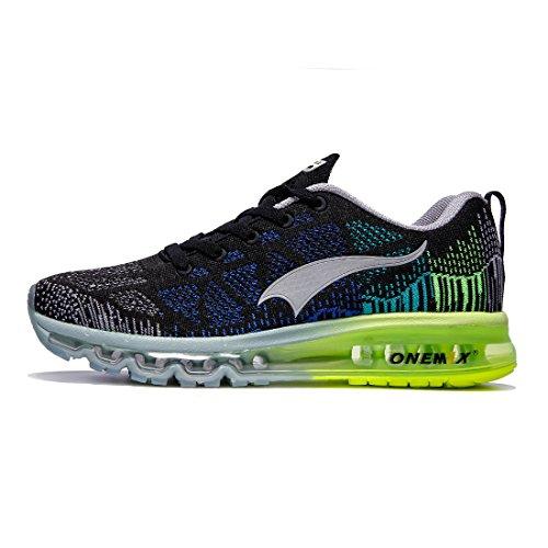 ONEMIX Schuhe Männer Luftkissen Herren - 3D Knit Leichtgewicht für Walking Gym Jogging Fitness Athletic Outdoor Sport Trainer Sneaker - HHL 39