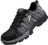 Zapatos de Seguridad para Hombres Zapatos de Acero con Punta de Seguridad,Zapatillas Deportivas Ligeras e Industriales Transpirables, Gris 42