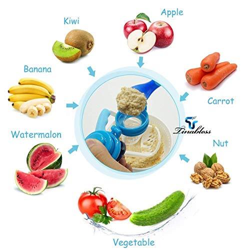 Baby Fruchtsauger Schnuller – Yisscen Frischkost Schnuller mit 3 verschiedenen Größen Silikon Schätzchen Schnuller Ersatz (S, M, L) – Baby Zahnen Nibbler Beißring Schnuller für Obst und Gemüse (Rosa) - 6