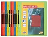 Idena 300041 - Kartonschnellhefter, 250 g/m², DIN A4, 10 Stück, 5-fach farbig sortiert, 1 Set