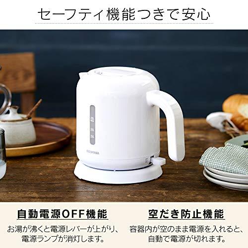 アイリスオーヤマ ケトル ベーシックタイプ ホワイト IKEB-800-W