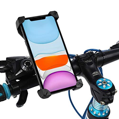 Marvoorem mobiele telefoonhouder voor motorfiets, fiets, geschikt voor smartphones tot 7 inch (17,8 cm), 4 hoeken, bevestiging op het stuur, onbreekbaar, houder voor mobiele telefoon voor motorfiets, fiets