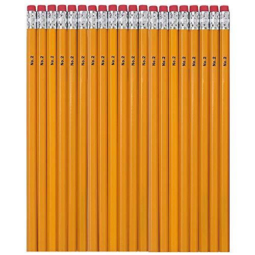 120 Wood Cased Bulk HB #2 Graphite Pencils – Unsharpened Pencils in Bulk Packs