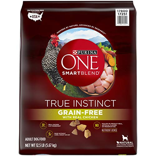 Purina ONE Grain Free, Natural, High Protein Dry Dog Food, SmartBlend True Instinct Real Chicken - 12.5 Lb