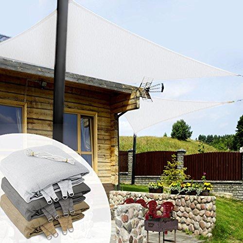 casa pura Voile d'ombrage rectangulaire Balcon, pergola, Jardin | polyéthylène, résistant | Rectangle, Anti UV | 3x5m, Blanc