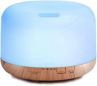 comprar comparacion Decdeal - 500ml Humidificador Ultrasónico de Aire con Mando a Distancia, Lámpara Difusora de Aromas Aceite Esencial Aromat...