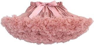 Yamyannie Vestido de Traje de niña Fluffy Tul Plisada Falda de tutú Princesa Ballet Dance Pettiskirt con gradas