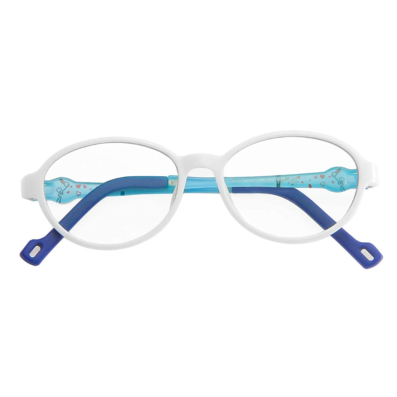 Cyxus Kids Computer Blue Light Blocking Glasses for Boys and Gilrs Anti Eyestrain (White)