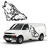Lobo aullando Auto Adhesivo atractivo diseño de animales como Tattoo para el vehículo Lobos...