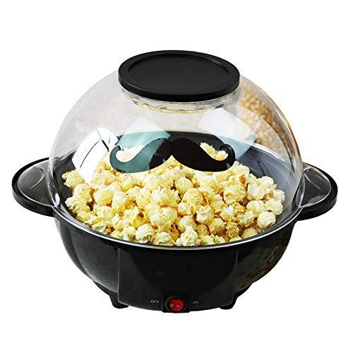 YFGQBCP Popcornmaschine Popcornmaschine, Klein Sphärische Popcorn, Karamellisierte Schokolade, Gesundheit, leicht zu reinigen Interessant, 220 V, 22 * 36cm / 8,7 * 14.1in, Schwarz