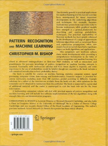 Pattern Recognition and Machine Learning (Information Science and Statistics) (Information Science and Statistics)