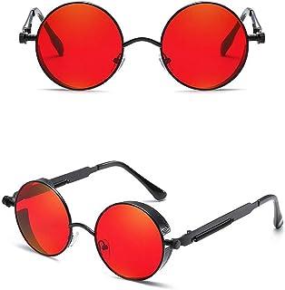 462921cd46 24 JOYAS Gafas de Sol SteamPunk Estilo Gótico con Funda y Gamuza para Mujer  y Hombre
