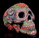 Figuren Shop Gmbh Mexicain Tête de Mort Gothique - Sugar Blooms Fantasy-Artikel, Peint à la Main