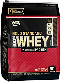 optimum Nutrition Gold Standard 100% Whey Protein, Chocolate. 6LBS