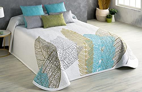 Textilia - Colcha Piqué Sidney (Azul / Verde, 90)