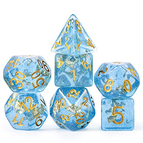 DND Game Dice Set,DNDND 7 PCS Polyhedral Dice with Organza Bag for Dungeons and Dragons D&D Role Playing Games and Tabletop Games