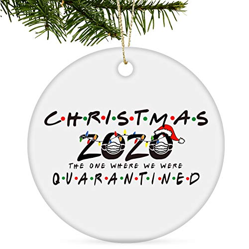Tmflexe 2020 Christmas Ornaments Decorations Tree Hanging Ornaments Kits Accessories Surviving Souvenir Gift for Home Indoor Outdoor Decor